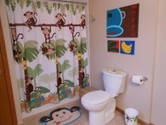 Footstool Painted To Match Her Target Monkey Bathroom Set   Bathrooms    Pinterest   Monkey Bathroom