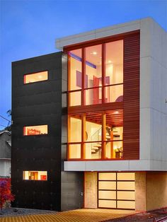 Modern Home Exterior. Simplicity. Love the materials, mixing ...