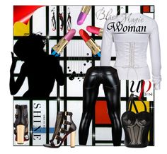 """""""Black Magic Woman~"""" by rj-cupcake ❤ liked on Polyvore featuring Jean-Paul Gaultier and Levi's"""