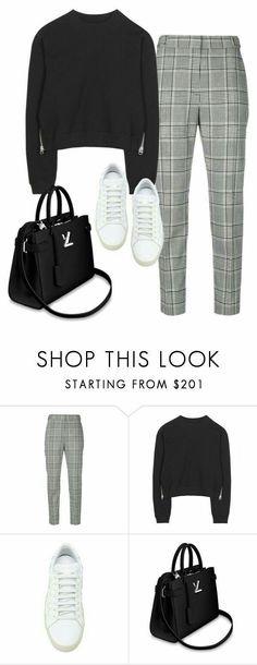 Plaid pants, sweater, kate spade sneakers