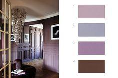 Les prunes (2) - 120 couleurs pour tout repeindre - CôtéMaison.fr Palette, Soft Purple, House Wall, Salon Design, Decoration, Modern Decor, Tiny House, Colours, Curtains