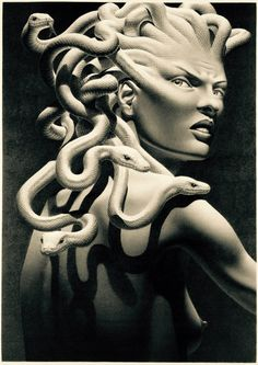 Stheno: Greek : eldest of the Gorgons, most vicious & forceful . Sister to Medusa