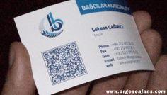 QR Kodlu Kartvizit: Mat Selefonlu, 350 gr kuşe kağıt, 84 x 52 mm: www.argeseajans.com #QRKodluKartvizit