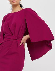 Cara Cape Maxi Dress   Pink   UK 8 / US 4 / EU 36   8469121008   Monsoon Monsoon, High Leg Boots, Cape, Long Toes, Size 16, Geometric Fashion, Perfect Party, Sleeves, Cabo