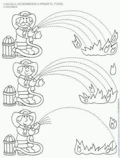 Fire Safety Worksheets Preschool Fire Safety Week Worksheet for Kids 1 Tracing Worksheets, Kindergarten Worksheets, Worksheets For Kids, Fire Safety Week, Fire Prevention Week, People Who Help Us, Community Helpers Preschool, Fine Motor, Preschool Activities