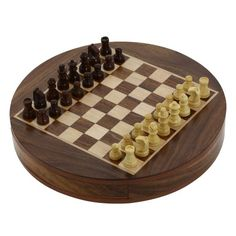 Magnetic Round Wooden Chess Board and Pieces Set Unique Compact Box ShalinIndia,http://www.amazon.com/dp/B00ESE9R1W/ref=cm_sw_r_pi_dp_mxfitb09T5KY042K