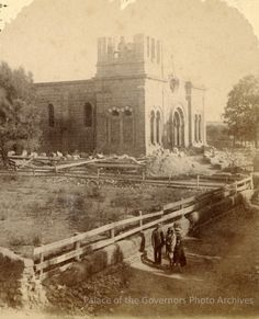 Construction of St. Francis Cathedral, Santa Fe, New Mexico, 1883.Photographer: William Henry Jackson