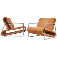 Percival Lafer Prototype Lounge Chairs from Brazil, circa 1970 | From a unique collection of antique and modern armchairs at https://www.1stdibs.com/furniture/seating/armchairs/