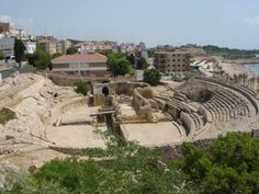 The amphitheatre at the end of the street I stayed on - Tarragona, Spain