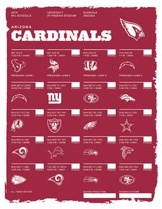 Arizona Cardinals 2014 NFL Schedule   collageit