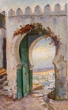 Bruno Richter_Blick von der Kasba auf Tanger und die Reede 1870