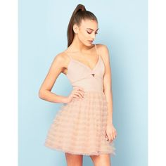 Ariana Grande For Lipsy Ruffle Prom Dress ($82) ❤ liked on Polyvore featuring dresses, short blue cocktail dresses, blue mini dress, blue cocktail dress, blue dress and strappy cami