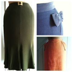 Basic pencil skirt - for a great and simple vintage look, and by the way : Free pattern