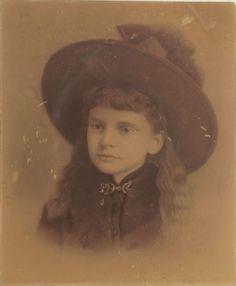 Rare Young Annie Oakley Tinted Photograph