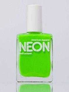 More of American Apparel's neon nail polish