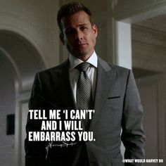 Harvey specter suits on tell me i can`t and i will embarass you suitsusa suits harvey harveyspecter jessicapearson mikeross goals motivation extra slim italian wool suit jacket Trajes Harvey Specter, Harvey Specter Suits, Suits Harvey, Suits Quotes Harvey, Leadership Quotes, Success Quotes, Moving On Quotes, Suits Tv Shows, Suits Series
