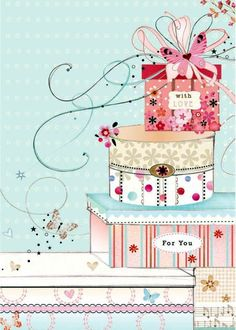 by Lynn Horrabin Happy Birthday Images, Birthday Messages, Birthday Pictures, Happy Birthday Cards, Birthday Quotes, Birthday Greetings, Birthday Wishes, Image Pastel, Illustrations Pastel