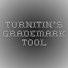 Turnitin's GradeMark Tool