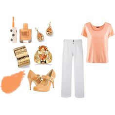 Peachy Keen - Plus Size, created by intcon on Polyvore