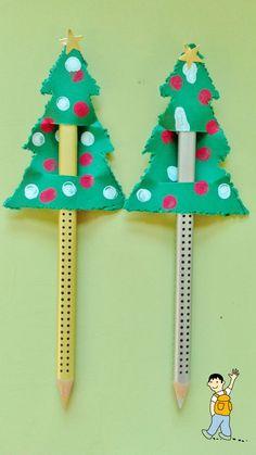 Árbol de navidad para decorar el lápiz.