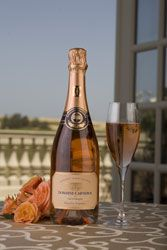 Domaine Carneros' Brut Rosé Cuvée de la Pompadour is easily my favorite sparkling wine.  For me, it will always equate a beautiful, clear autumn day in Napa on the gorgeous Chateau terrace with Joe.