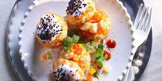 Coco, Sushi, Eggs, Breakfast, Ethnic Recipes, Tables, France, Profiteroles Recipe, Cooking Recipes
