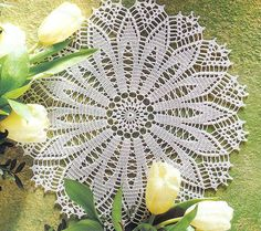 Ecru  Round Crochet Doily,  Lace Doily, Table Center, Homedecor, Victorian, Cottage Chic