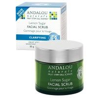 Andalou Naturals, Facial Scrub, Lemon Sugar, Clarifying, 1.7 oz (50 g)