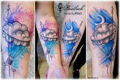 Balóny #art #tat #tattoo #tattoos #tetovanie #original #tattooart #slovakia #zilina #bodliak #watercolor #bodliaktattoo #bodliak_tattoo #balloons_tattoo #balloons