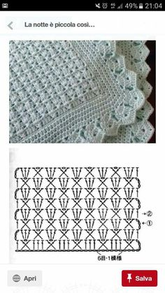 Baby Knitting Patterns Shawl Crocheting Patterns Book 300 Japanese craft book by MeMeCraftwork motif sympa pour un plaid Pineapple motif the pattern diagram shows this is much easier than it looks crochet by john – Artofit Crochet baby blanket - easy, q Hexagon Crochet Pattern, Crochet Bedspread Pattern, Baby Afghan Crochet, Crochet Diagram, Crochet Stitches Patterns, Crochet Chart, Crochet Motif, Baby Knitting Patterns, Diy Crochet