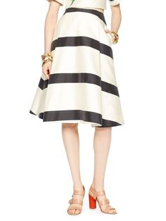 madison ave. collection stripe lysa skirt