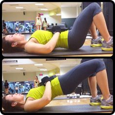 These things WORK.  Put a heavy weight on your stomach and push up.  Works your butt and your abs at the same time! <3