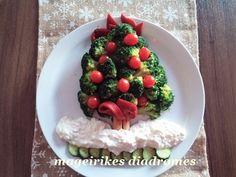 Χριστουγεννιάτικη σαλάτα μπρόκολου με σάλτσα τυριού