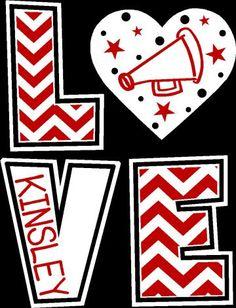 ORIGINAL DESIGN Cheer Chevron LOVE T-Shirt by WalnutStreetHouse2