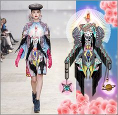 Manish Arora Ready To Wear Fall/Winter 2011/2012 by Amrei Hofstätter, via Behance