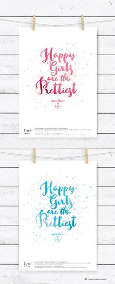 Free Printable 'Happy Girls' from Happy Paperie®