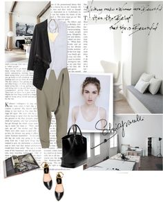 """How to wear a jumpsuit in a different way :)"" by ekincetin ❤ liked on Polyvore"
