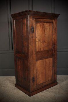 18th Century Slim Oak Wardrobe - Antiques Atlas