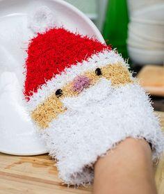 Santa Scrubby Mitt