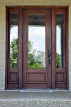 Full glass and wood front door