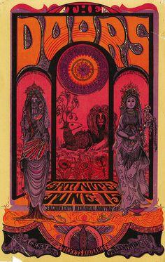 The Doors, June 15, 1968 - Sacramento Memorial Auditorium (Sacramento, CA) Art By Sam Sirdofsky.