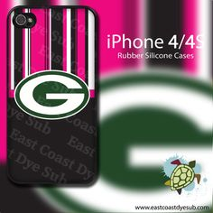 Pink & Black Striped GreenBay Packers