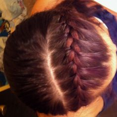 French braid across the top of your head.