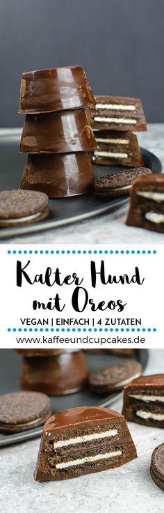 Kalter Hund mit Oreos im Kleinformat | Kaffee & Cupcakes #vegan #schokolade #backen #rezept #einfach #schnell #oreos #oreo #zartbitterschokolade #palmin #kokosfett #kokosöl #kekse #muffinform #muffins