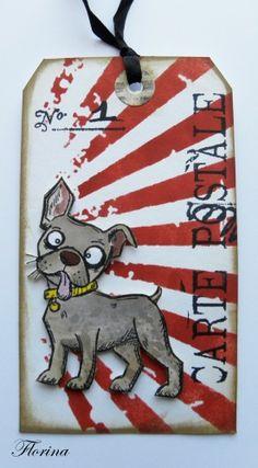 Dog Tim Holtz - Cartes en scrapbooking