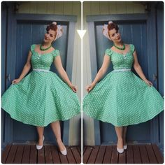 OOTD Dress - Hairscarf and belt- Necklace- Etsy Shoes- Novo Petticoat - Pin Up Outfits, Outfits 2016, Retro Outfits, Modest Outfits, Vintage Outfits, Vintage Fashion, 1950s Fashion, Pinup Girl Clothing, Girls Fashion Clothes