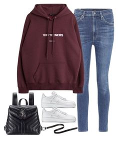 """""""Sem título #5279"""" by fashionnfacts ❤ liked on Polyvore featuring Citizens of Humanity, NIKE and Yves Saint Laurent"""