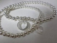 Mummy and Me Set, sterling silver bracelets or necklaces
