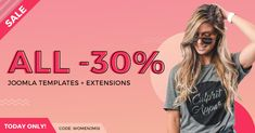 !SALE! Happy Women's Day!    This year you can get -30% #discount on #Joomla templates. Use the discount code: WOMENJM18 at the checkout. For example - you can get all Joomla #templates bundle + commercial #extensions JUST NOW for $209.30  #womensday