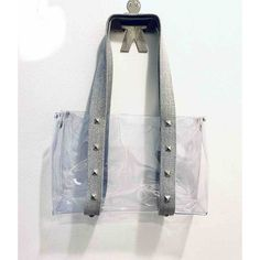 Clear Bag with Grey Straps   Faire.com Clear Tote Bags, Fashion Bags, Womens Fashion, Vest, Denim, Jackets, Group, Board, Down Jackets